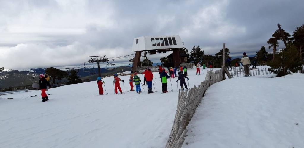 Grupo de iniciación al Esquí